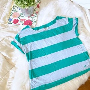 American Eagle Striped Cropped T-Shirt | Size S